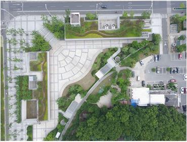 无锡地铁2号线靖海公园站下沉广场景观绿化亚博体育客户端下载